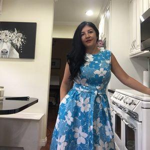 Vintage Hawaiian print dress